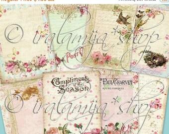 SALE CHERISH JOURNALING TAgS  Collage Digital Images  -printable download file-