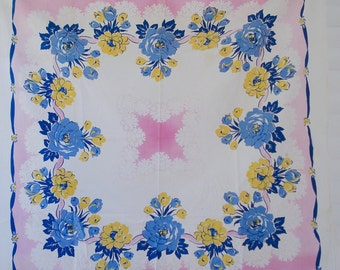 1960s floral tablecloth