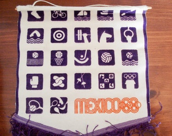 FOUND IN SPAIN - Mexico '68 Olympics banner