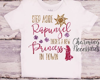 Princess Rapunzel Glitter Shirt, Baby Toddler Girl Clothes, Coming Home, Baby Shower Gift, Tangled Inspired, Charming Necessities