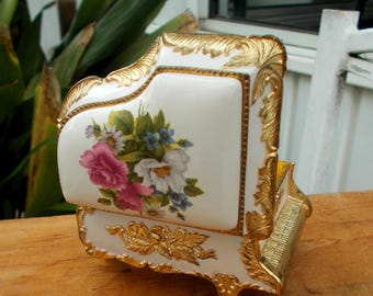 Sankyo Musical Piano Jewelry Box Love Theme from A Star Is Born / Vanity Gift box For Keep Sakes / Hand Painted White Piano With Pink Roses