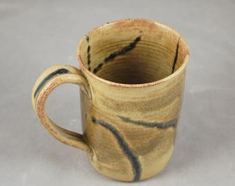 Monster Mug 28 Ounce Mug in Sienna with Black Lapis Accents