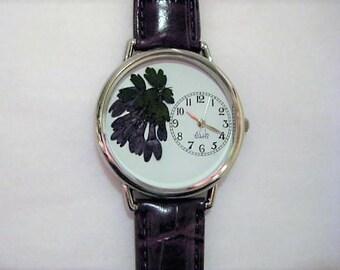 Women's Watch, Wrist Watch for Women, Purple Lilac Watch, Pressed Flower Watch, Women's Wrist Watch,Retirement Gift,Watch,Farewell Gift