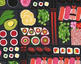 Two (2) Yards - Bento Box Sushi Fabric Michael Miller DC7462-LACQ-D