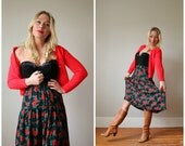1980s Rose Bud Skirt >>> Size Extra Small to Small