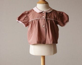 25% OFF SALE 1940s Toffee Swing Blouse~Size 3 Months