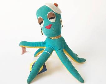 Dream Pets Octopus Stuffed Animal 1970s Mimi Octopus New old stock Dakin