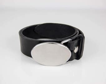 Oval Stainless Steel Belt Buckle