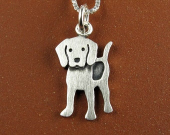 Tiny beagle necklace / pendant