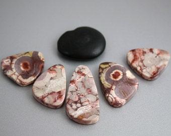 Jasper Pendant Beads - Coralillo Jasper - Jasper Beads - Statement Necklace