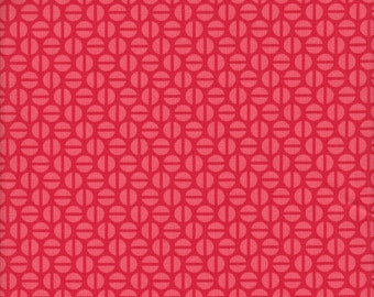 Free Spirit Fabrics Heather Bailey True Colors Divvy Dot in Poppy - Half Yard