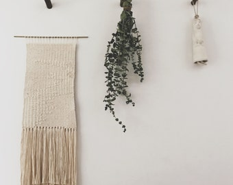 cotton and wool - drift | hand woven wall hanging tapestry weaving