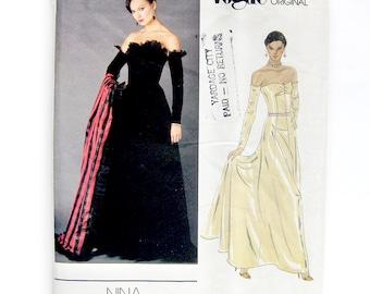 1980s Vintage VOGUE Nina Ricci Strapless Gown - Paris Original - Red Carpet Dress / Wedding Dress - UNCUT FF / Size 12 Bust 34