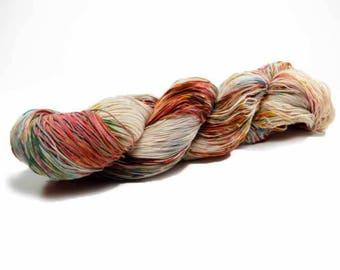 150 Yards Hand Dyed Crochet Thread Size 10 Cotton Thread 3 Ply Sage Brown Terracotta Blue Grey Fine Cotton Yarn