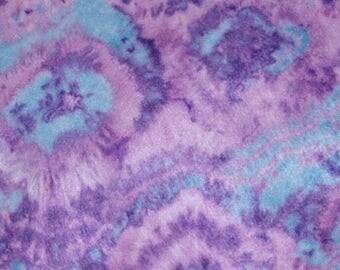 Purple  and Blue Tie Dye Felt Sheet