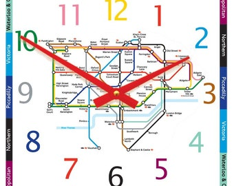 Tube Map Clock