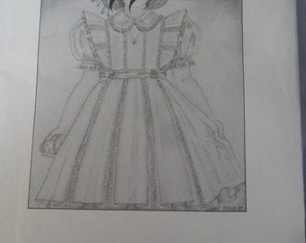 "Vintage Becky B's ""Perfect Pinafores - III in Girls size 6 thru 8 -Never Used Pattern"