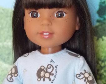 Go Bananas Knit Dress for 14.5 inch little girl dolls