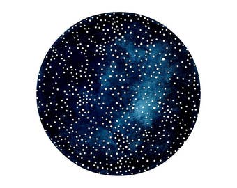 Imaginary Star Chart Number 20 - Original Contemporary 6x8 Watercolour Painting - Astronomy Art - by Natasha Newton