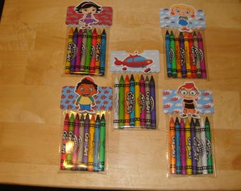 Little Einsteins Made To Order Crayon Favor Bags