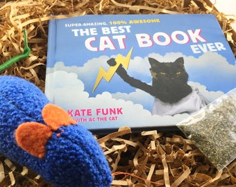 The Best Cat Book Ever Gift Set, Cat Costumes, Marvelous Melissa, Cat Toy Book Combo, Sock Mice,Kate Funk, AC Cat, Unique Cat Lover's Gift