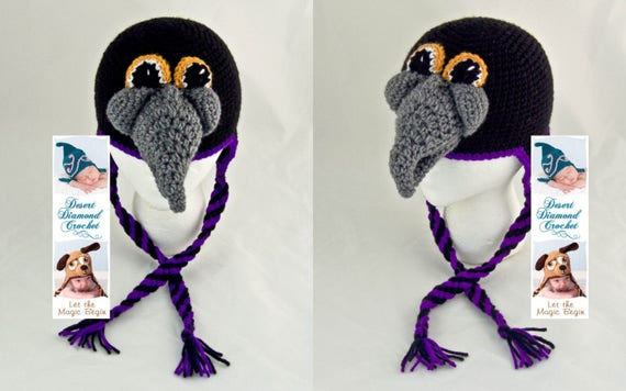Baltimore Raven Earflap Beanie Hat - All Sizes