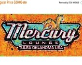 ON SALE Mercury Lounge- Tulsa Oklahoma USA - 18 X 12 High Quality Pop Art Print