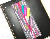 Noteworthy pencil pouch, Happy planner, pencil case, Journal cover, planner bag, Erin Condren, pencil gift, zipper pouch, Teacher gift