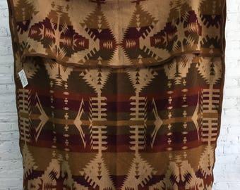 vintage navajo native american trading blanket / oregon city woolen mills wool blanket / genuine Jacobs throw