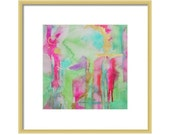 Watercolor Mint Abstract Print-Abstract Wall Art-Giclee Print-Wall Decor- Watercolor Print-Home Decor-Abstract Painting