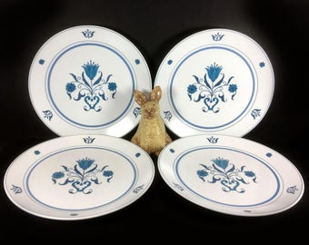 """Set of Two Dinner Plates - Vintage Noritake """"Blue Haven""""  (13 Available)"""