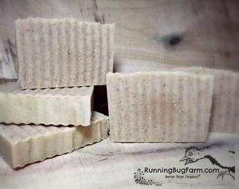 Oatmeal Organic Goats Milk Soap Homemade Soap Cold Process Bar Soap Fragrance Free No Essential Oils Sensitive Skin Soap / 3.75 - 4 Ounces