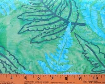 Breathtaking Blue and Green Batik Cotton Fabric