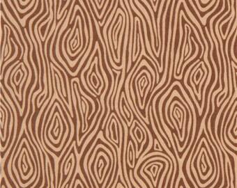 206901 brown wood pattern Robert Kaufman fabric Burly Beavers