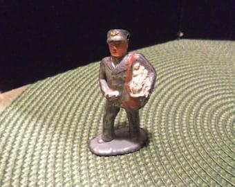 Vintage Mail Man Mail Carrier Lead Figure