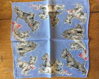 child hanky/handkerchief scotty dogs