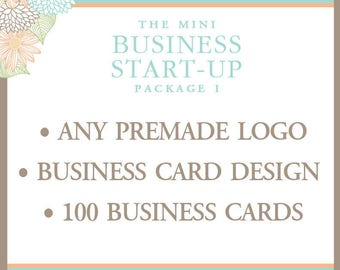 Business Package - Premade Logo - Business Card Design - 100 Printed Business Cards