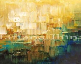 Bright giclee print on CANVAS of original painting COAST of OZ by Tatiana Iliina