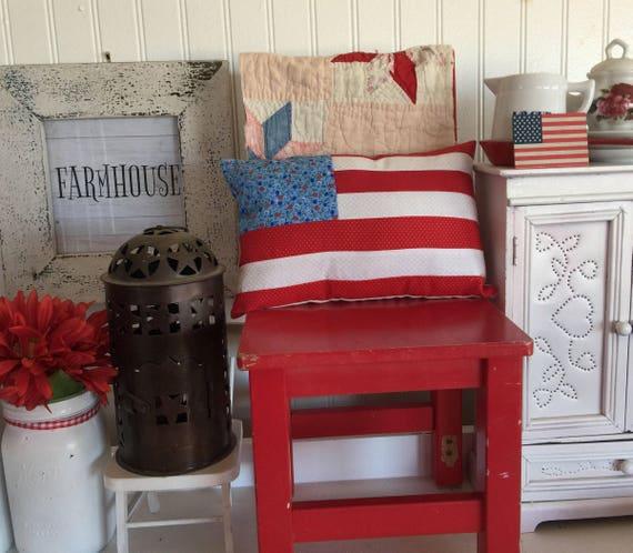 """Americana 6 1/2"""" x 10"""" Flag Pillow- Regular sized home pillow"""