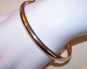 Vintage 14K Gold Bangle Bracelet - Plain with No Engraving