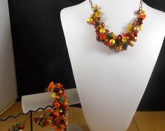 Beautiful Fall Three Piece Jewelry Set