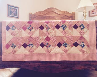 Hand-Stitched Baby Quilt - Pink Dreams