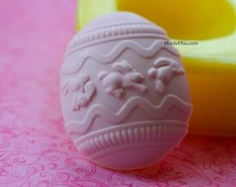Easter Egg Mold Silicone Chocolate Mold Fondant Egg Mold Soap Polymer Clay Wax DIY Resin Mold