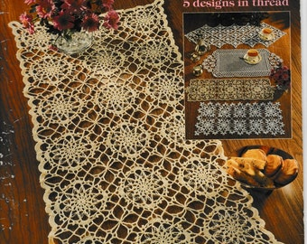 Crochet Table Runners by Jo Ann Maxwell book # 1169