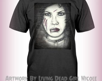 "Portrait T-Shirt : ""I Bind You Nancy"" Fairuza Balk Nancy Downs The Craft Witches"