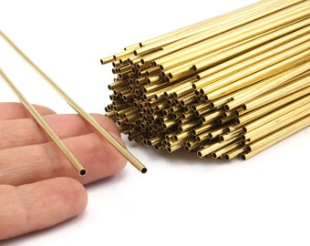 2.5mm Brass Himmeli Tubes, 24 Raw Brass Himmeli DIY Tube Beads, for Air Plants , Geometric Shapes - Customize