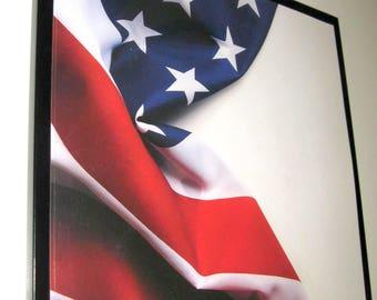 Beautiful Flag ..Magnet Dry Erase Memo Board /Housewarming Gift / Office Decor / Desk / Organization / Wall Hanging / Message Board / USA