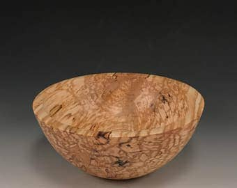 Handmade Spalted Maple Wood Bowl - Food Safe - Handcrafted - The Simpleton
