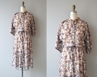 Sweet William dress | vintage 1970s floral dress | floral print 70s dress