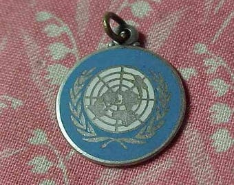 Vintage Sterling United Nations UN Enamel  Charm